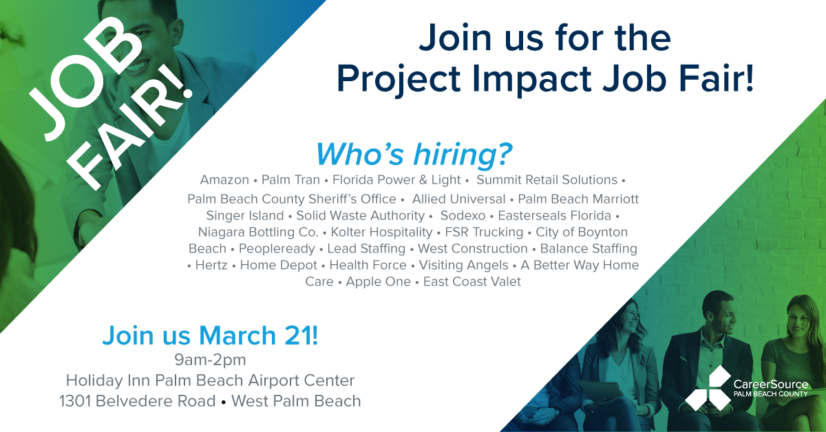 Project Impact Job Fair Featuring 25 Employers Hiring Now!